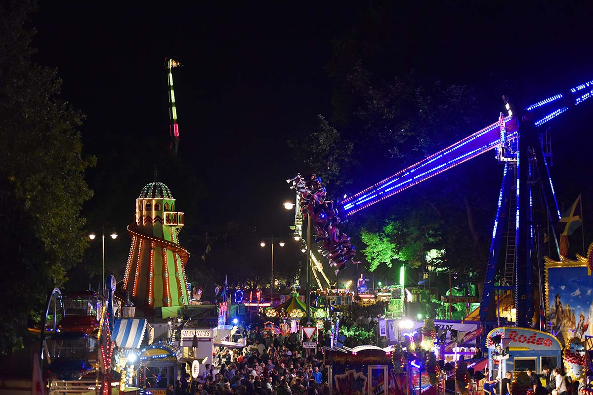 St Giles' Fair at night