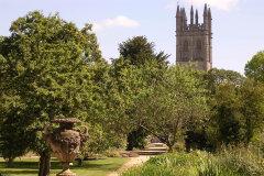 Botanical Gardens and Magdalen Tower - landscape
